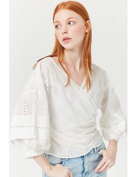 Eyelet Wrap Top by Forever 21