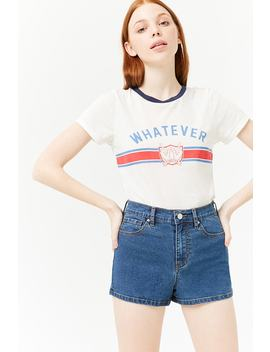 Denim Mid Rise Shorts by F21 Contemporary