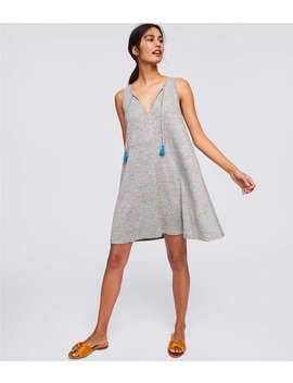Loft Beach Shimmer Tie Neck Swing Dress by Loft
