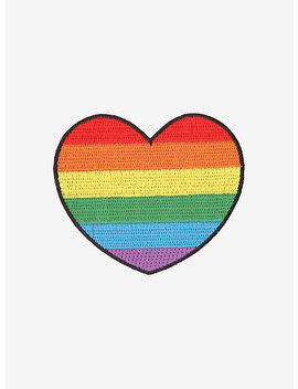 Pride Rainbow Heart Patch by Hot Topic