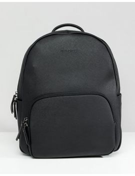 Smih And Canova Saffiano Leather Backpack In Black by Asos Brand
