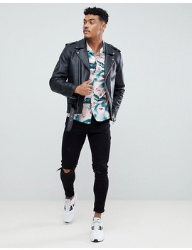 Asos Design Skinny Floral Print Shirt by Asos Design