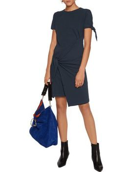 Knotted Cotton Jersey Mini Dress by J.W.Anderson