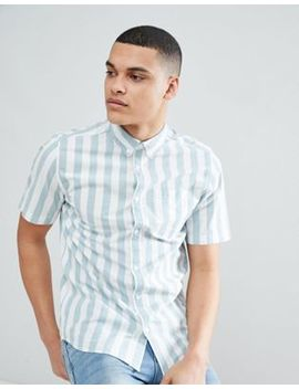 Only & Sons Short Sleeve Shirt With Vertical Stripe by Only & Sons