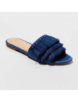 Women's Benetta Tassle Slide Sandals   A New Day™ by A New Day™