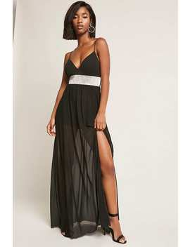 Rhinestone Cami Maxi Dress by Forever 21