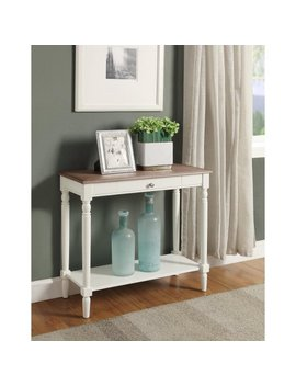 Convenience Concepts French Country Hall Table With Drawer And Shelf by Convenience Concepts