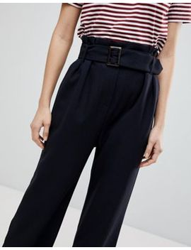Selected Femme High Waisted Belted Pants by Selected