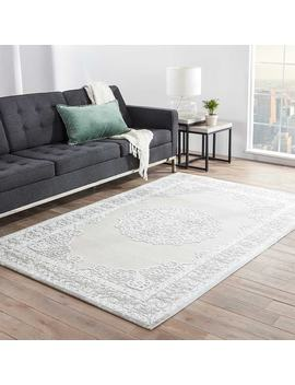 Maison Rouge Millay Medallion Grey/ White Area Rug (9' X 12') by Maison Rouge