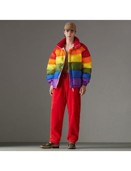 Rainbow Down Filled Puffer Jacket by Burberry