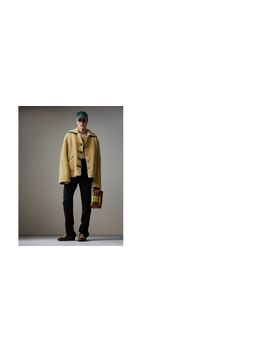 Relaxed Fit Shearling And Lambskin Jacket by Burberry