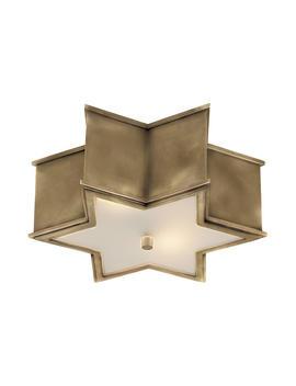 "Sophia Flush Mount, Brass by [""Visual Comfort & Co.""]"