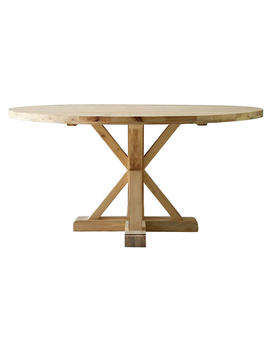 """Jax 60"""" Round Dining Table, Natural by [""""Ave Home""""]"""