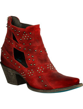 Lane Women's Red Studs &Amp; Straps Fashion Boots   Snip Toe by Lane