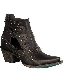 Lane Women's Black Studs &Amp; Straps Fashion Boots   Snip Toe by Lane
