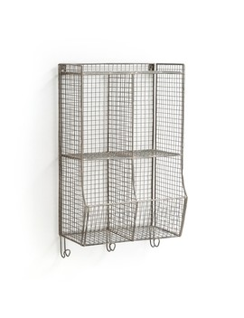 Mesh Metal Wall Shelving Unit by La Redoute Interieurs