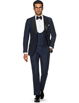 Lazio Navy Plain Tuxedo by Suitsupply