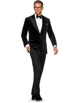 Lazio Black Plain Dinner Jacket by Suitsupply
