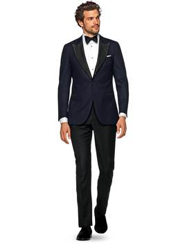 Lazio Navy Plain Dinner Jacket by Suitsupply