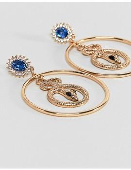liars-&-lovers-gold-snake-statement-hoop-earrings by liars-&-lovers