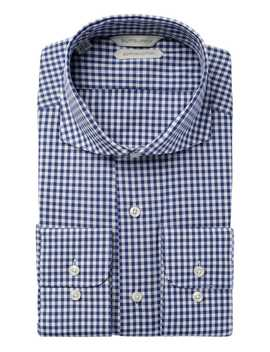 Navy Check Shirt by Suitsupply