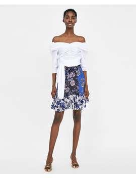 patchwork-print-mini-skirt--skirts-&-shortssale-woman by zara