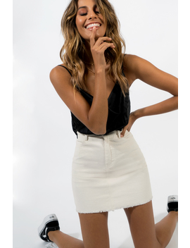 Someone Like You Cord Mini Skirt by Dissh Boutiques