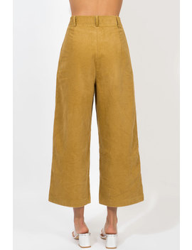 In You Dreams Mustard Cord Culotte by Dissh Boutiques