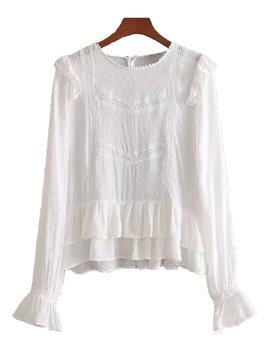 'emily' Ruffle Lace Pleated Top by Goodnight Macaroon