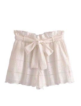 'hadlee' Belted Lace Shorts by Goodnight Macaroon