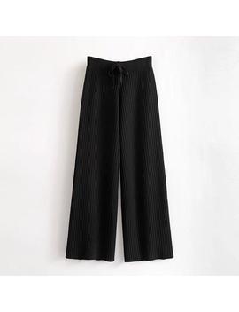 'navine' Ribbed Wide Leg Pants by Goodnight Macaroon