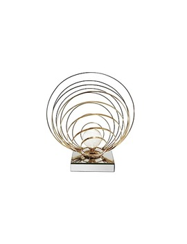 Everly Quinn 13'' Metal Tabletop Sculpture On Crystal Base by Staples