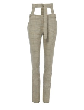 Cooper Silk Wool Pants With Removable Corset Belt by Tibi