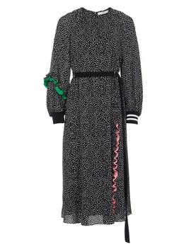 Martine Ruffle Shirred Neck Dress by Tibi