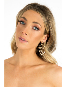 In The Moment Face Earring by Dissh Boutiques