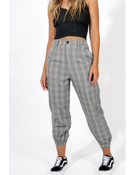 On The Move Plaid Pants by Dissh Boutiques
