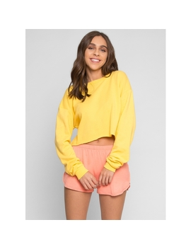 Fullerton Crop Sweater In Yellow by Wet Seal