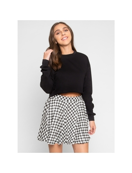 Fullerton Crop Sweater In Black by Wet Seal