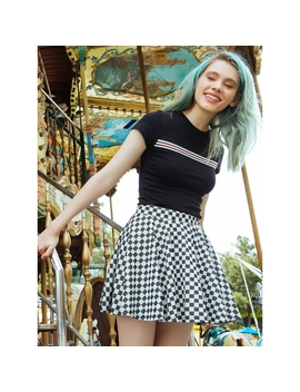 Righteous Checkered Flare Skirt by Wet Seal