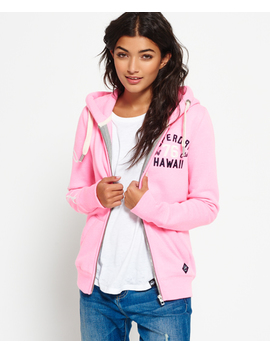 Applique Zip Hoodie by Superdry