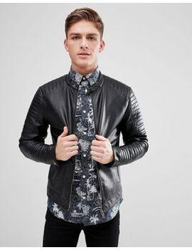 jack-&-jones-core-faux-leather-racer-jacket by jack-&-jones