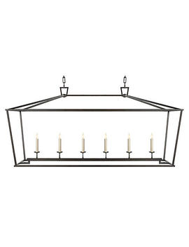 """Darlana Linear Pendant, Gilded Iron by [""""Visual Comfort & Co.""""]"""