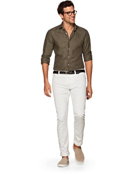 Green Plain Shirt by Suitsupply
