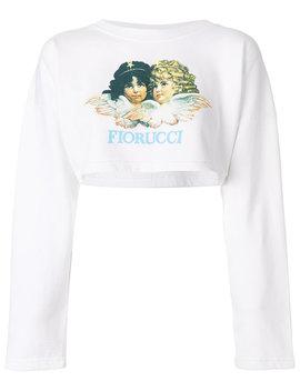 logo-cropped-sweatshirt by fiorucci