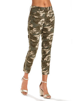 Side Embroidered Camo Skinny Pant by Boston Proper