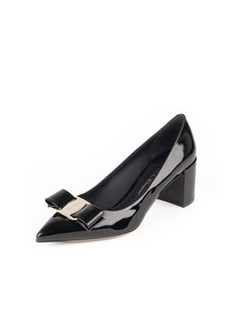 Big Vara Patent Leather Bow Pump by Salvatore Ferragamo