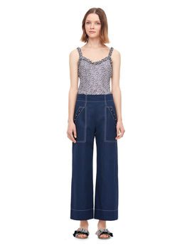 Linen Cropped Pant by Rebecca Taylor