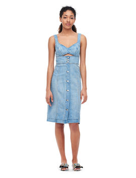 La Vie Drapey Denim Cut Out Dress by Rebecca Taylor