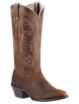 Ariat Magnolia Sunflower Stitch Cowgirl Boots   Medium Toe by Ariat