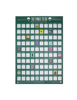100 Things To Do Scratch Off Poster by Uncommon Goods